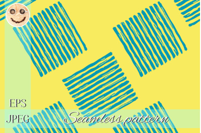 Blue paint stripes on the yellow seamless pattern.