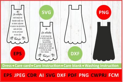 Care instruction svg. Care Card dress svg