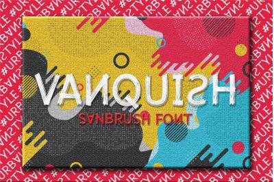 Vanquish | Sanbrush Font