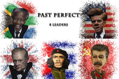 8 leaders caricatures