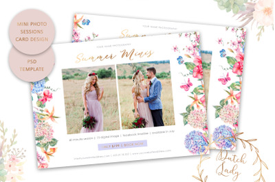 PSD Photo Session Card Template #63