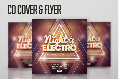 Cd Cover & FLyer night of electro