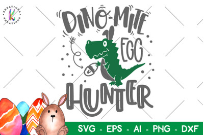 Easter svg Dino-Mite egg hunter svg Dinosaur svg