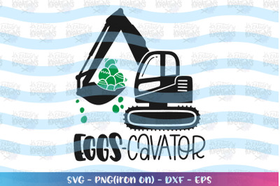Easter svg Eggs Cavator Truck Heavy Equipment operator
