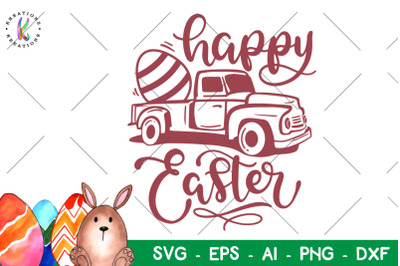 Easter svg Easter truck svg Happy Easter
