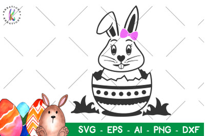 Easter svg Easter bunny girl