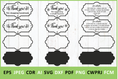 Thank You SVG and Washing instruction svg