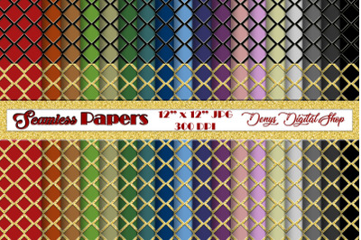Seamless Papers, Digital Scrapbook Papers, Color Patterned