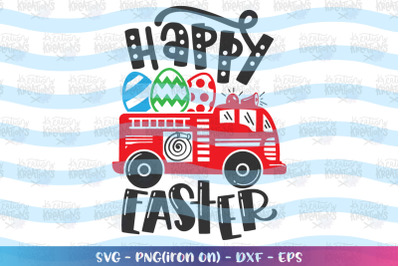 Easter svg Fire Truck Happy Easter Fire fighter car lorry kids cute