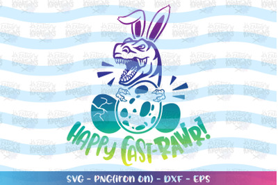 Easter svg Happy East-Rawr svg Dinosaur Easter Kids T-Rex