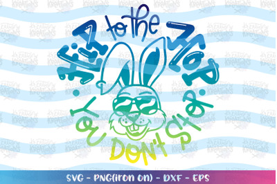 Easter svg Hip to the Hop you don't stop svg Bunny Sunglasses