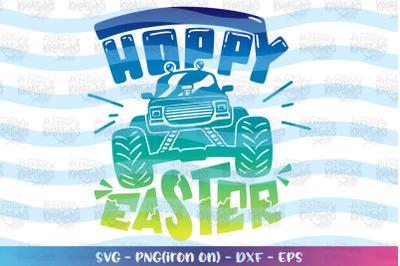 Easter svg Monster Truck svg Hoppy Easter