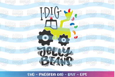 Easter svg Easter truck svg I Dig jelly Beans