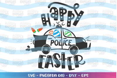 Easter svg police car svg Happy Easter