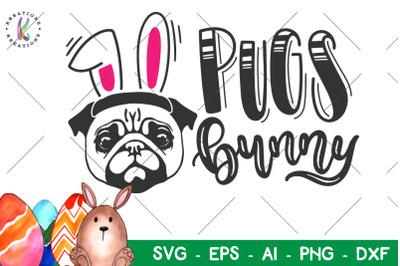 Easter svg Pugs Bunny svg
