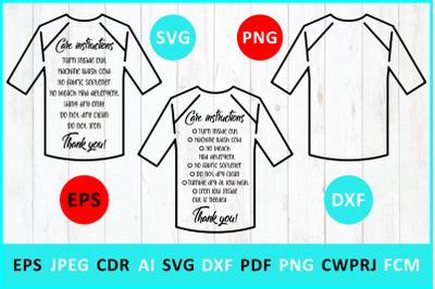 Care instruction svg. Baseball t-Shirt svg