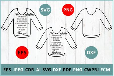 Care instruction Deep V-Necks t-Shirt