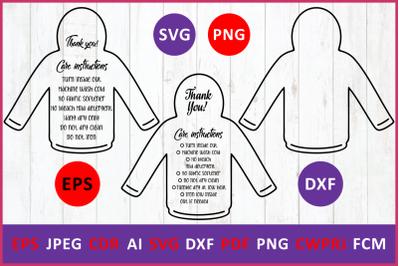 Care instruction t-Shirt hoodies svg