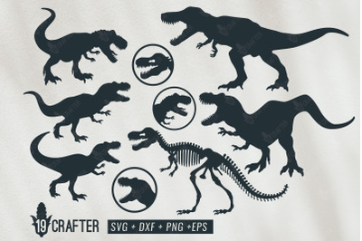 t-rex tyrannosaurus rex dinosaur svg bundle