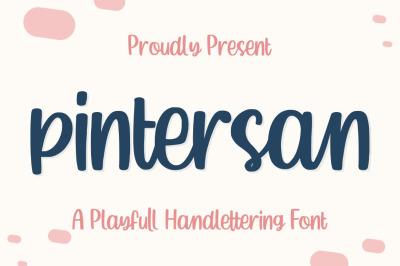 Pintersan - Handlettering Font