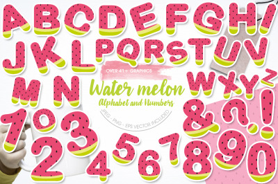 Watermelon Alphabet and Numbers
