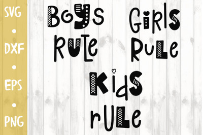 Kids rule -SVG CUT FILE