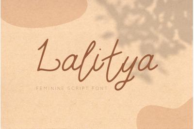 LALITYA FONT