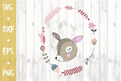 Cute deer -SVG CUT FILE