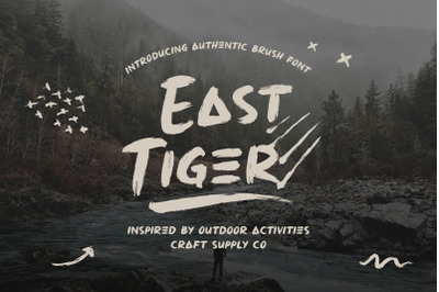East Tiger - Authentic Brush Font