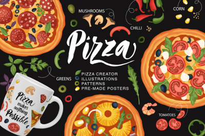 Pizza bundle. Creator + Ready Designs.
