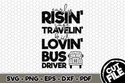 Kid Lovin' Bus Driver SVG Cut File n261