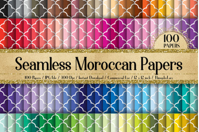 100 Seamless White Moroccan Carpet Pattern Papers