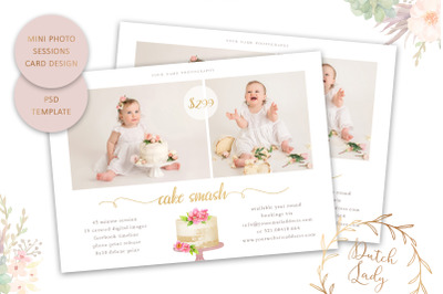 PSD Photo Session Card Template #64