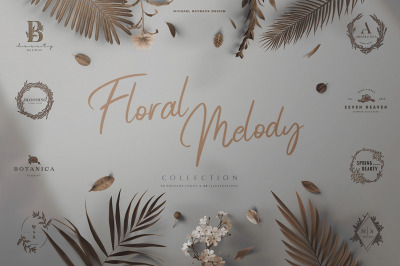 Floral Melody Logos & Illustration