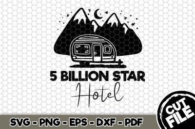 5 Billion Star Hotel SVG Cut File n268