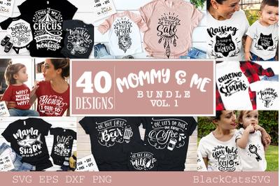 Mommy and me SVG bundle 40 designs