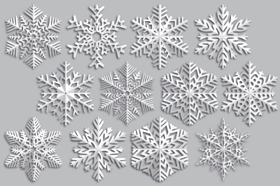 Snowflake made of paper.