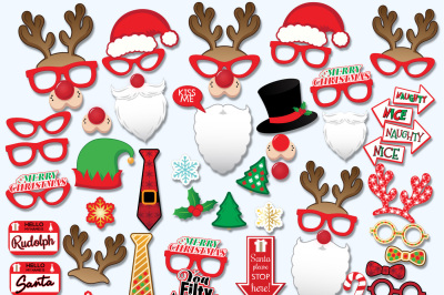 Christmas Printable Props, photo-booth props, Christmas Photo-booth props