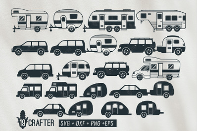 camper car and trailer svg bundle