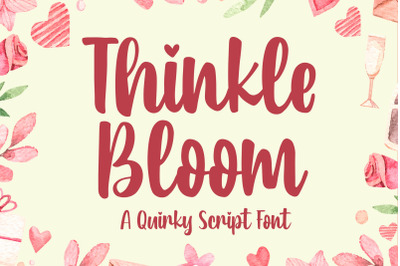 Thinkle Bloom - a Quirky Font