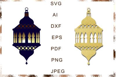 Muslim lantern on ramadan, islamic home decor