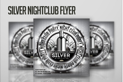 Silver Nightclub Party Flyer