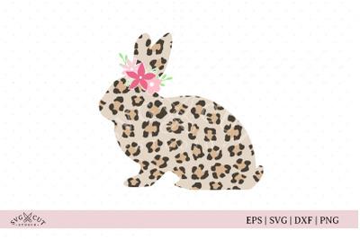 Easter SVG, Leopard Print Easter Bunny SVG