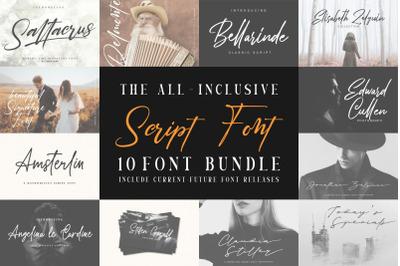 Handwritten-Script Font Bundle