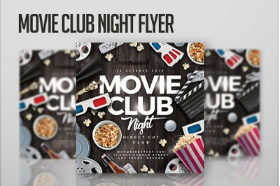 Movie Club Night Flyer