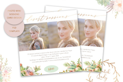 PSD Photo Session Card Template #65