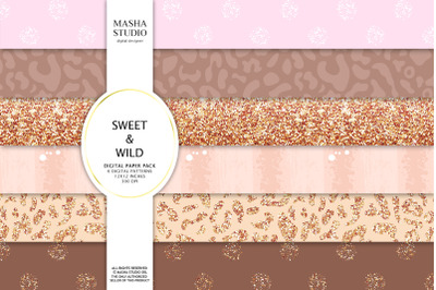 SWEET & WILD basic digital papers