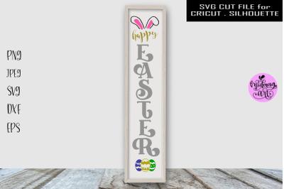 Happy easter sign svg, easter porch svg