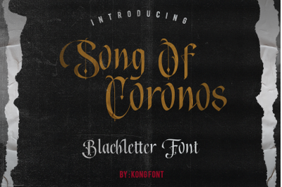 Song of Coronos Font