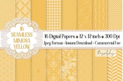 16 Seamless Luxury Mimosa Yellow Summer Shine Digital Papers